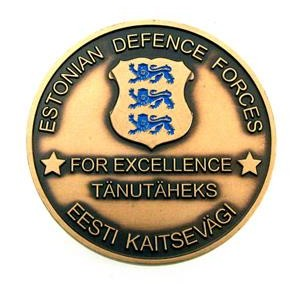 Medalj coin Estonian Defence Forces