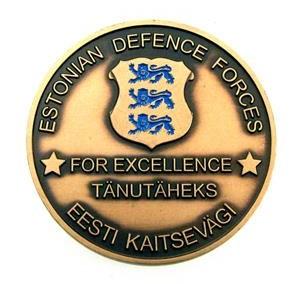Medalj coin Estonian Defence Forces