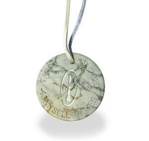Medalj marmor sten